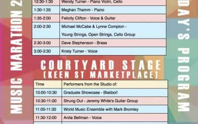 MUSIC MARATHON SATURDAY 1 NOV 10:00-4:00
